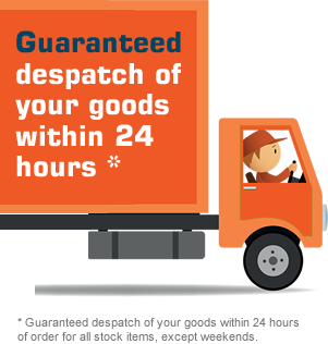 Guaranteed despatch of your goods within 24 hours *